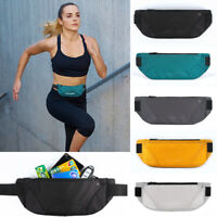 US Women Men Sport Waist Belt Bum Bag Pouch Fanny Pack Camping Running Zip Bags