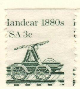 US EFO Scott #1898 Transportation 3c Handcar coil single, major Mis-perf!