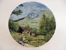 """D'Arceau-Limoges Porcelain 8.25"""" Plate,  """"Promenade dans les Alpes"""" 1989"""