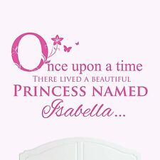 A Beautiful Princess Named Isabella Large Once Upon a Time Wall Sticker Girl