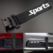 Black Universal Front Bumper Car/Auto Racing Sports Tow Hook Strap Decor Sticker