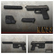ZYTOYS X26 Taser Black 1/6 Pistol Assembled Gun Mini model