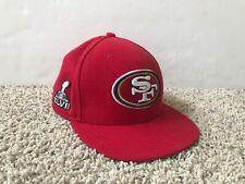 San Francisco SF 49ers Super Bowl XLVII New Era Hat Cap Size 7 3/8
