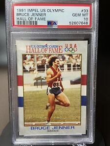 1991 IMPEL US OLYMPIC, BRUCE JENNER/KAITLYN JENNER PSA GEM MT 10 !!!!!  LOW POP
