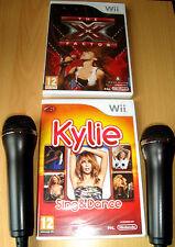 We Singstar The X Factor, Kylie Sing & Dance Wii bundle Microphones and games