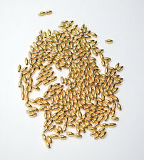 Beads Gold Small Tube Beads 6mm