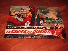 FOTOBUSTA,LA CURVA DEL DIAVOLO,The Devil's Hairpin,Cornel Wilde,AUTO CAR RACE