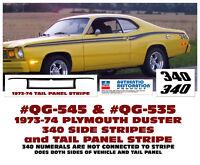 NO TAIL STRIPE GE-QG-401 1971-72 DUSTER TWISTER 340 SIDE STRIPES EYEBALLS