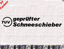 geprüfter Schneeschieber Aufkleber Frontspoiler  Sticker Bomb Winterauto Daily