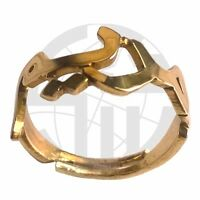 Personalised handmade GOLD Plated NAME RING with ANY NAME in Arabic calligraphy