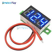Mini DC 4.0-30V  Blue LED Panel Voltage Meter Display Digital Voltmeter 2 Wire