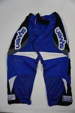 Syven Boys Youth Hockey Pants Belted Black Blue White Size M