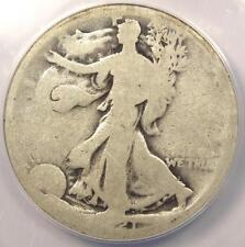 1921-D Walking Liberty Half Dollar 50C - ANACS AG3 - Key Date - Certified Coin