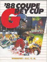 1988 GREY CUP PROGRAM,WINNIPEG BLUE BOMBERS-B C LIONS