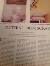 Ephemera 1996 Article David Skinner & Sons Printed Wallpaper M5148