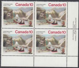 Canada - #652 Christmas Plate Block - MNH