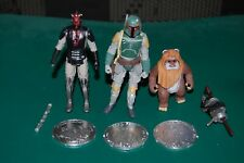"Star Wars Boba Fett Ewok Maul 3.75"" lot! Coins and more!"