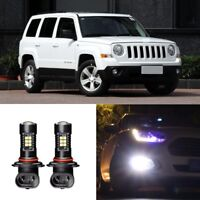 Canbus H11 3030 21SMD LED DRL Daytime Running Fog Lights Bulbs For Jeep Patriot