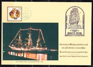 Germany 1989 Sonderblatt SSS Gorch Fock stempel cancel Christmas Sailing ship