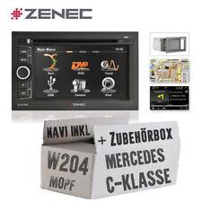 Zenec KFZ Autoradio für Mercedes C-Klasse W204 Naviceiver mit Bluetooth / USB