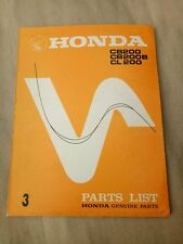 Honda CB200 CL200 CB200B  Factory Parts list Catalog Genuine Japan NOS