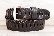 Falari Cintura Uomo casual vera pelle intrecciata a mano fibbia acciaio inox
