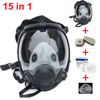 15 in 1 Gas Mask For 3M 6800 Full Face Facepiece Respirator Painting Spraying 15
