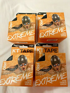 4 NEW ⚡ KT Tape Pro Extreme Black⚡ 80 Strips total (20 each pack) KTTAPE