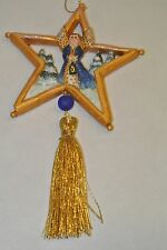 P. Schifferl Christmas ornament Gold Star Angel Trees & Tassel Pam P.S.