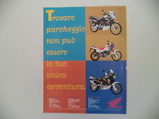 advertising Pubblicità 1995 MOTO HONDA TRANSALP 600/750 AFRICA TWIN/DOMINATOR
