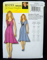 Butterick Pattern #B5193 Misses Semi-Fitted Dress Size (XS-S-M-L-XL) Butterick
