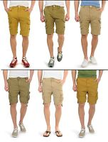 New Soul Star Men's Plain Cargo Combat Bermuda Shorts Summer Sand Khaki Stone