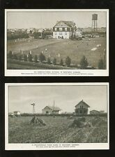 CANADA 1923 DEPT.of IMMIGRATION FARMING ADVERTS 2 CARDS
