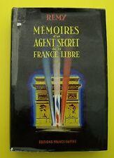 Mémoires d'un agent secret de la France Libre - Rémy - 1961 ( T3 )