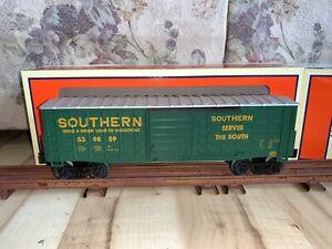 Lionel Trains 6-15028 Southern Railway Waffle side Boxcar, C-9.