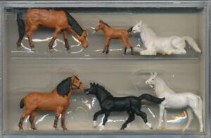 "Preiser 10150 ""Pferde"" Spur H0, Neu & OVP"