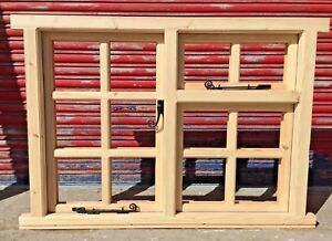 Traditional Timber Wooden Georgian 12 Panes Casement Windows! Made To Measure!!!