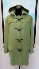 $1200 BURBERRY London Lime Green Wool Duffle Toggle Coat Sz L