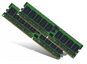 2x 2GB 4GB RAM Server Fujitsu-Siemens Primergy TX300 S1