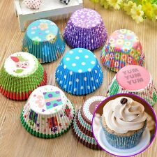 100Pcs Christmas Paper Cake Cups Liners Baking Cupcake Cases Muffin Wrapper