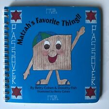 Matzah's Favorite Thing Jewish Children's Book (Pesach Seder Passover)