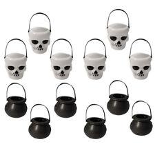 Decoración de Halloween Negro/Blanco calderas de BRUJA CALDERO Fiesta Caramelo Colgante Accesorios * Uds
