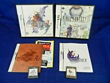 Lot of 2 Japanese Nintendo DS;Final Fantasy 4,Final Fantasy Tactics A2,w/Mans,VG
