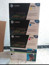 LOT HP 504A /X CE250X CE251A CE252A CE253A para CP3520 CP3525 CP3522 CM3530