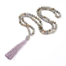 Mala Beads 108 Meditation Prayer Rosary Labradorite Necklace Chakra Reiki Heal