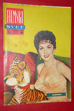 GINA LOLLOBRIGIDA COVER 1957 GEORGES MARCHAL LUCIA BOSE EXYU MOVIE MAGAZINE