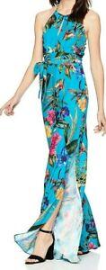 Parker Women's Megara Sleeveless Tie Waist Full Leg 100% Silk Jumpsuit $380
