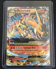 Pokemon TCG - M Charizard Ex - Rare Full Art Holo Sleeved Card # 13/106 - JS