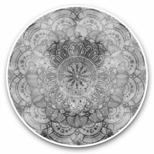2 x Vinyl Stickers 25cm (bw) - Colourful Abstract Mandala  #38662