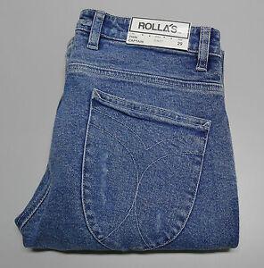 NEW Rollas THIN CAPTAIN W-29 L-32 Slim Fit Men's Blue Jeans Style 10226 -$199.95